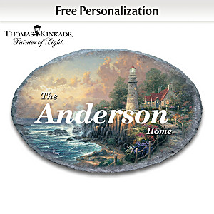 Thomas Kinkade Outdoor Welcome Sign Personalized With Name
