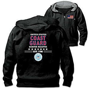 Military Pride U.S. Coast Guard Men's Hoodie