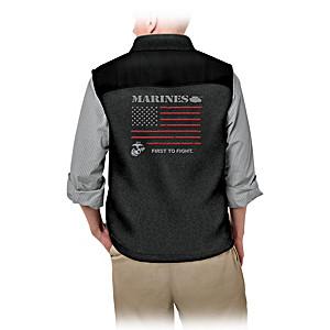 USMC Service Pride Men's Fleece Vest