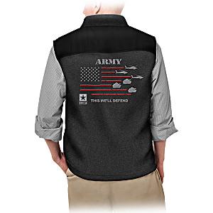 """""""Service Pride"""" U.S. Army Men's Fleece Vest"""