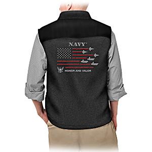"""""""Service Pride"""" U.S. Navy Men's Fleece Vest"""