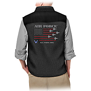 """Service Pride"" U.S. Air Force Men's Fleece Vest"