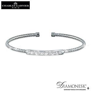 Charles Garnier Weave Design Solid Sterling Silver Bracelet