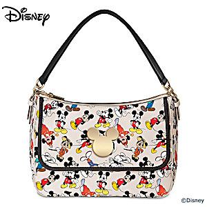Disney Women's Fashion Handbag With Mickey Mouse Art