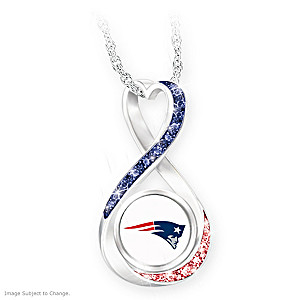 Patriots Super Bowl LIII Champions Infinity Pendant