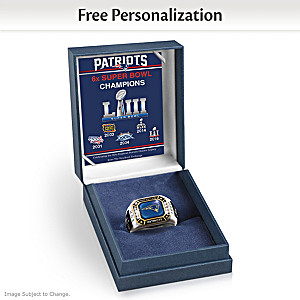 Patriots Super Bowl LIII Champions Personalized Men's Ring