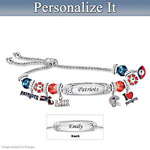 Patriots Super Bowl LIII Champions Personalized Bracelet