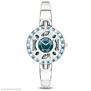 Eagles Rotating Watch With Team-Colored Crystals