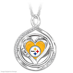 """My Heart Flips For The Steelers"" 2-In-1 Flip Necklace"