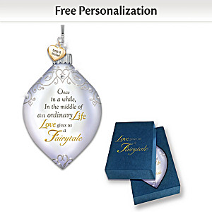"""Dazzling Holiday Romance"" Personalized Illuminated Ornament"