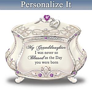 Birthstone Heirloom Porecelain Music Box For Granddaughter