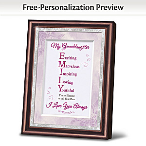 Granddaughter Framed Poem With Name & Personality Traits