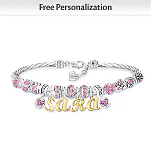 """My Granddaughter, My Love"" Personalized Birthstone Bracelet"