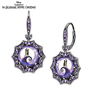 Jack And Sally Earrings With Over 70 Simulated Gemstones