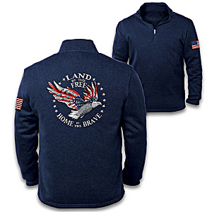 Land Of The Free Men's Fleece Pullover