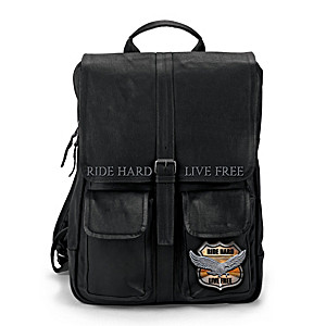 Ride Hard, Live Free Leather Backpack