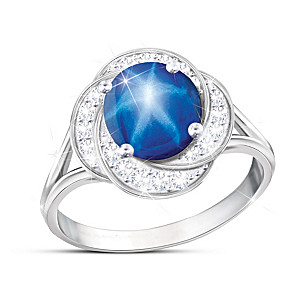 """""""Stardust Magic"""" Created Star Sapphire And Topaz Ring"""