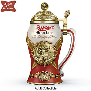 Miller High Life Porcelain Stein With 22K-Gold Plating