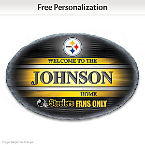 Pittsburgh Steelers Welcome Sign Personalized With Name