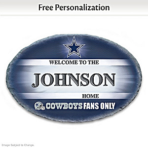 Dallas Cowboys Welcome Sign Personalized With Name