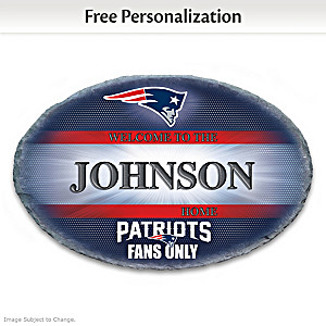 New England Patriots Welcome Sign Personalized With Name