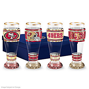 San Francisco 49ers Four-Piece Pilsner Glass Set