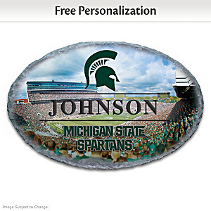 Spartans Outdoor Welcome Sign Personalized With Name