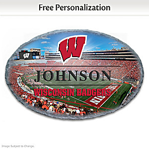 Badgers Outdoor Welcome Sign Personalized With Name