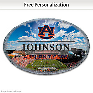 Auburn Tigers Outdoor Welcome Sign Personalized With Name