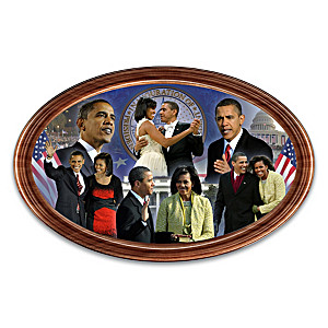 President Obama 10th Anniversary Framed Collector Plate