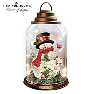 "Thomas Kinkade ""White Christmas"" Illuminated Musical Lantern"