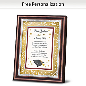 """Dear Graduate"" Personalized Framed Poem With Name And Year"