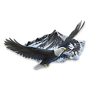 """Majestic Flight"" Sculptural Eagle Wall Decor"