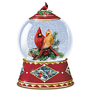 Winter's Tiny Treasures Musical Snowglobe