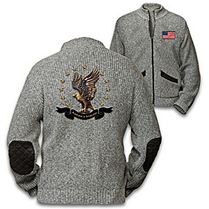 America Strong Men's Sweater Jacket