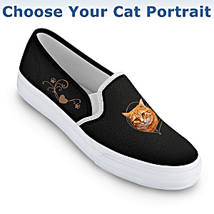 """Paw Prints On My Heart"" Shoes: Choose Your Cat Portrait"