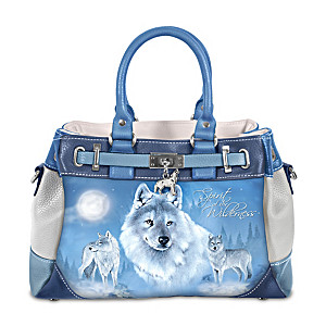Eddie LePage Wolf Art Women's Fashion Handbag