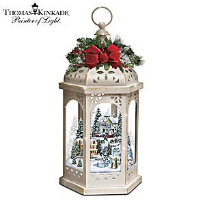 Thomas Kinkade Winter Wonderful Lantern With Revolving Light