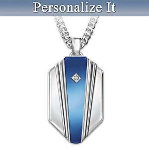 """My Son, My Hero"" Personalized Diamond Pendant Necklace"