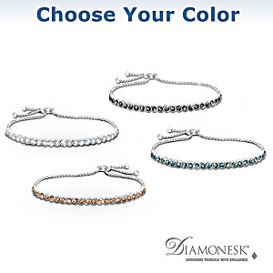 """Lavish Luxury"" Diamonesk Bracelet: Choice Of 4 Colors"