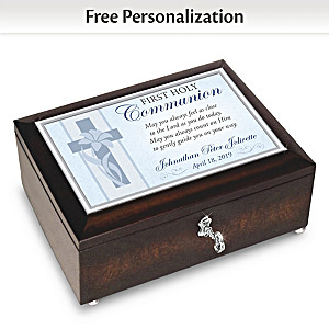 First Holy Communion Music Box With Name And Date