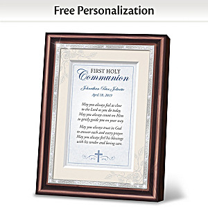 First Holy Communion Personalized Framed Prayer