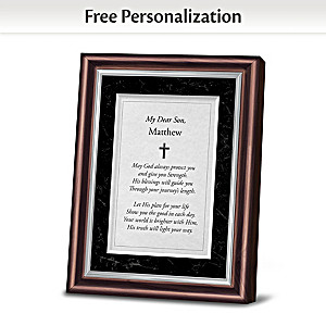 Religious Framed Poem Personalized With Son's Name