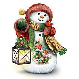 Dona Gelsinger Illuminated Snowman Figurine