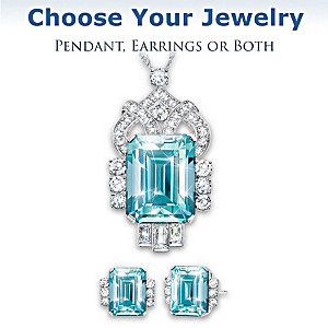 Aqua Majesty Royal Family-Inspired Necklace And Earrings Set