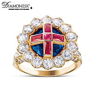 Queen Elizabeth II-Inspired Royal Coronation Diamonesk Ring