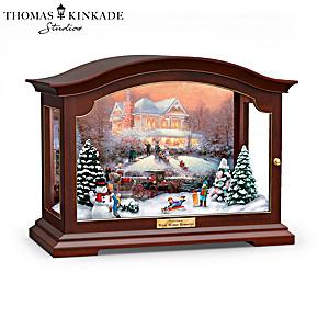 Thomas Kinkade Illuminated Music Box Plays 8 Classic Carols