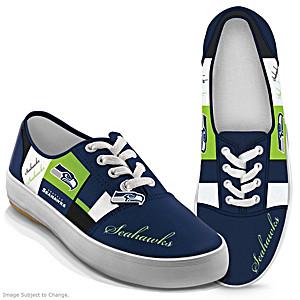 NFL-Licensed Seattle Seahawks Women's Patchwork Sneakers
