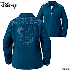 Disney All Ears Mickey Mouse Faux Suede Women's Jacket