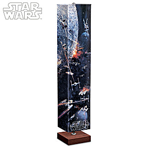STAR WARS Battle Of The Death Star Four-Sided Art Floor Lamp